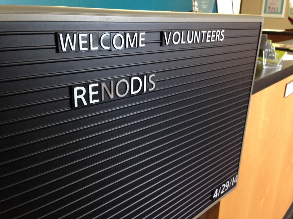Welcome Renodis Volunteers